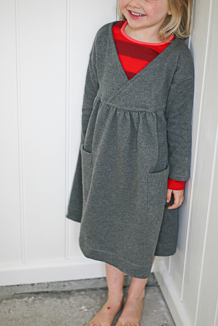 Kid's winter dress which is super comfy and sparkles.