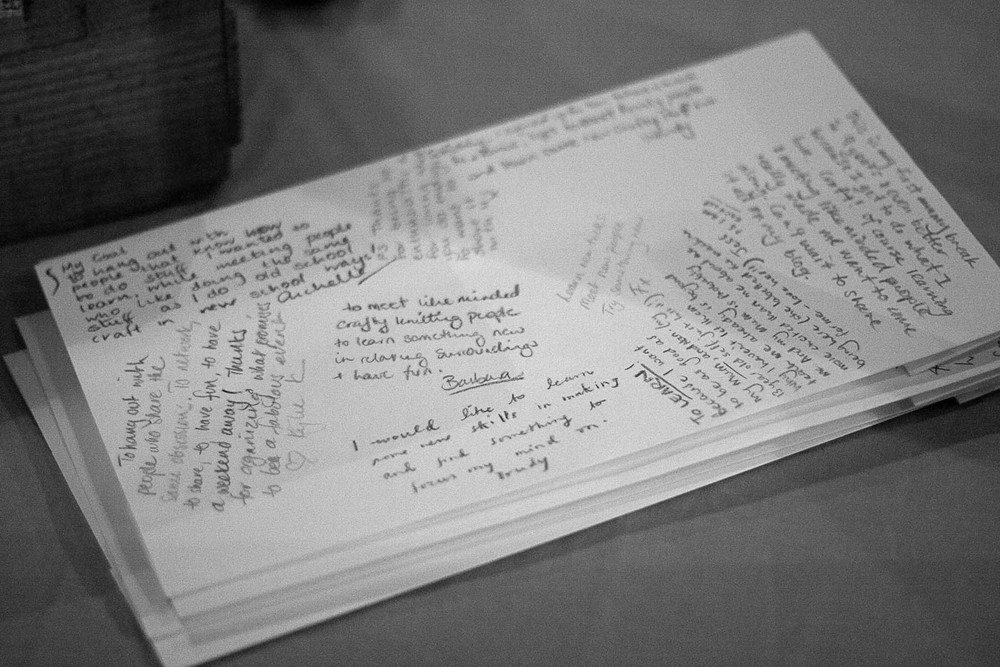 Writing down why we came... Photo by Siri Hayes.