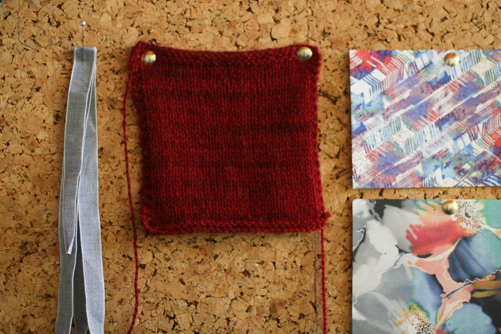 A swatch on my inspiration board taht has been waiting for the perfect project.