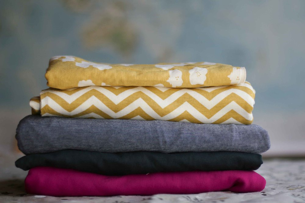 Stack of potential tshirts waiting to become more than just potential.