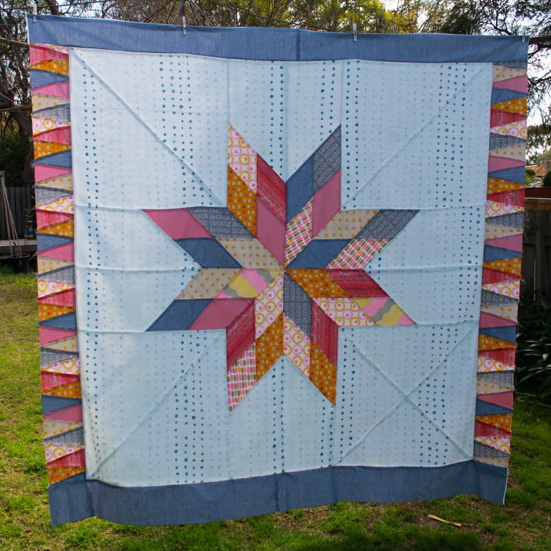 The quilt top. Image used courtesy of Siobhan Rogers of Beaspoke Quilts