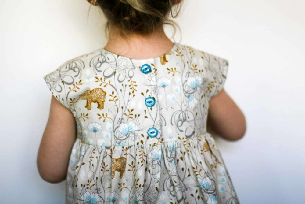 Her favourite version - the bear dress!