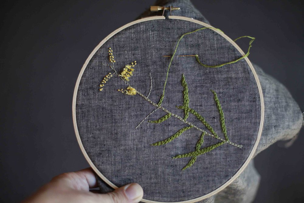 Stunning work by Siobhan from Melissa's Embroidery from the Natural World Class.