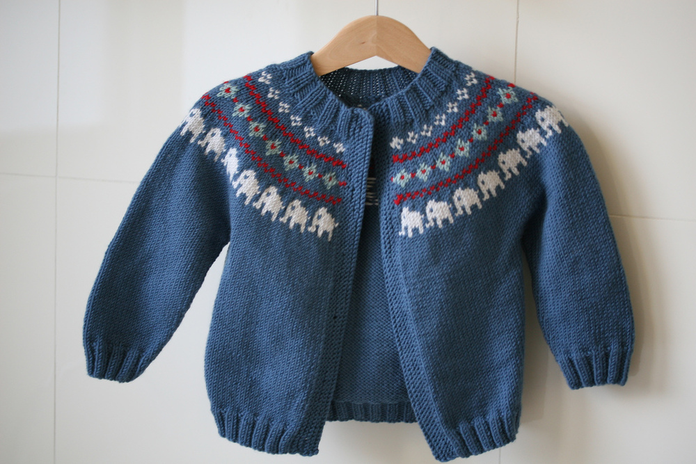 "The yarn being used below was being ""saved"" to make this jumper again….. except that I've realised I won't ever make it."