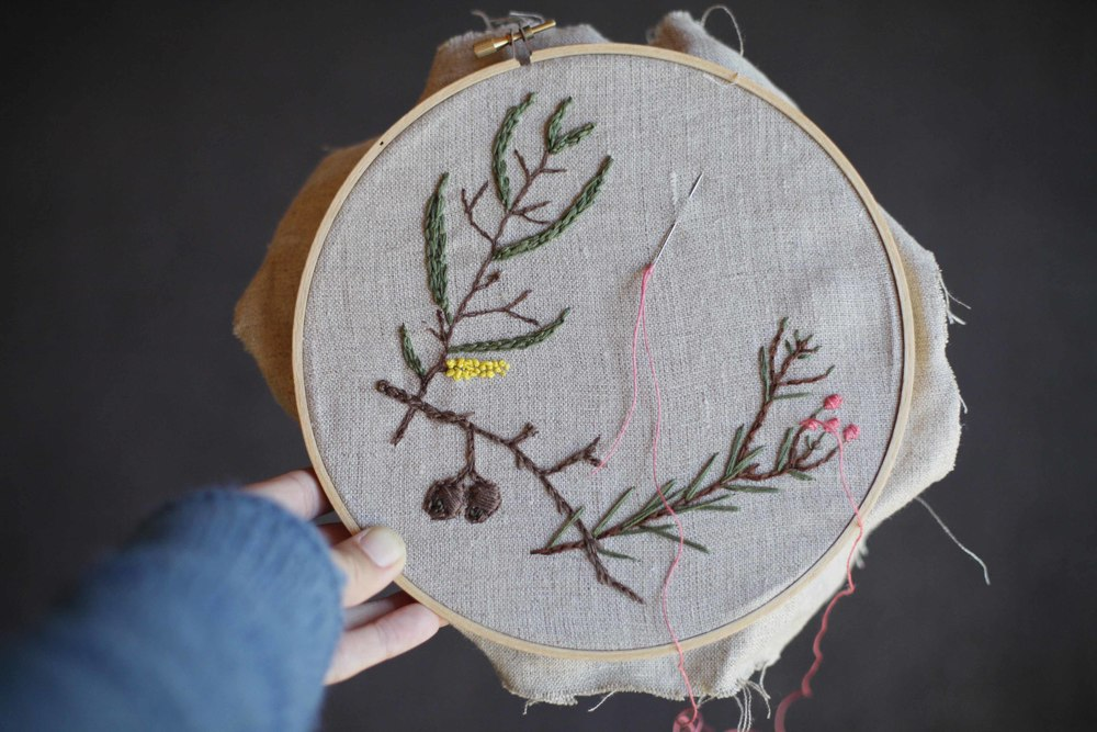 Embroidery from the Natural World with Melissa Wastney.