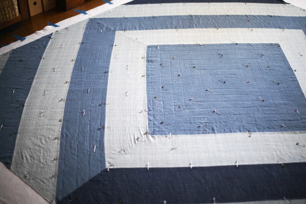That isn't camera distortion my friends - the corner of the quilt that is totally distorted.