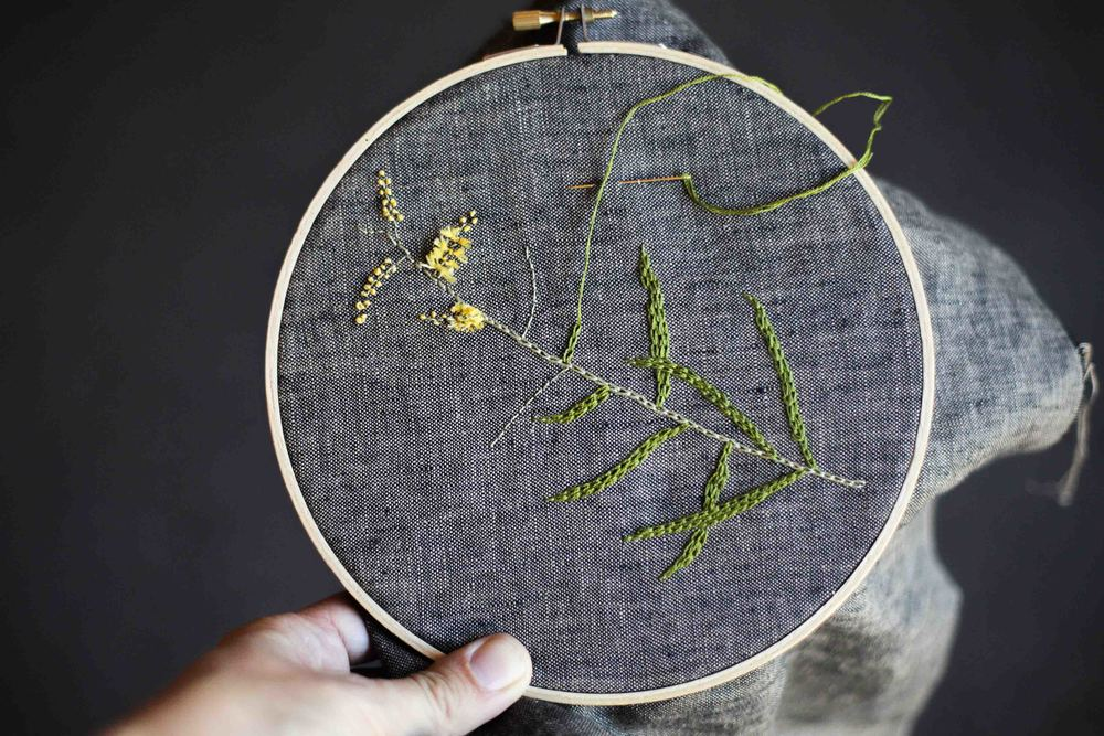 Work created by the incredible Siobhan in last year's Embroidery from the Natural World workshop.