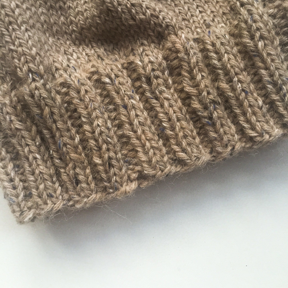 Smoothness trick for knitting in the round.