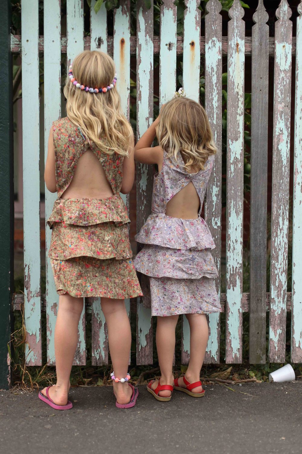 Dresses made from hoarded pretty!