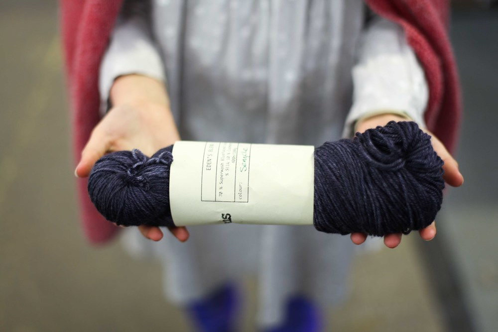 The biggest treat of the day was that Kylie from  The Purl Box  showed me a yarn colourway she had named for me after the first retreat. It was truly gorgeous Kylie x