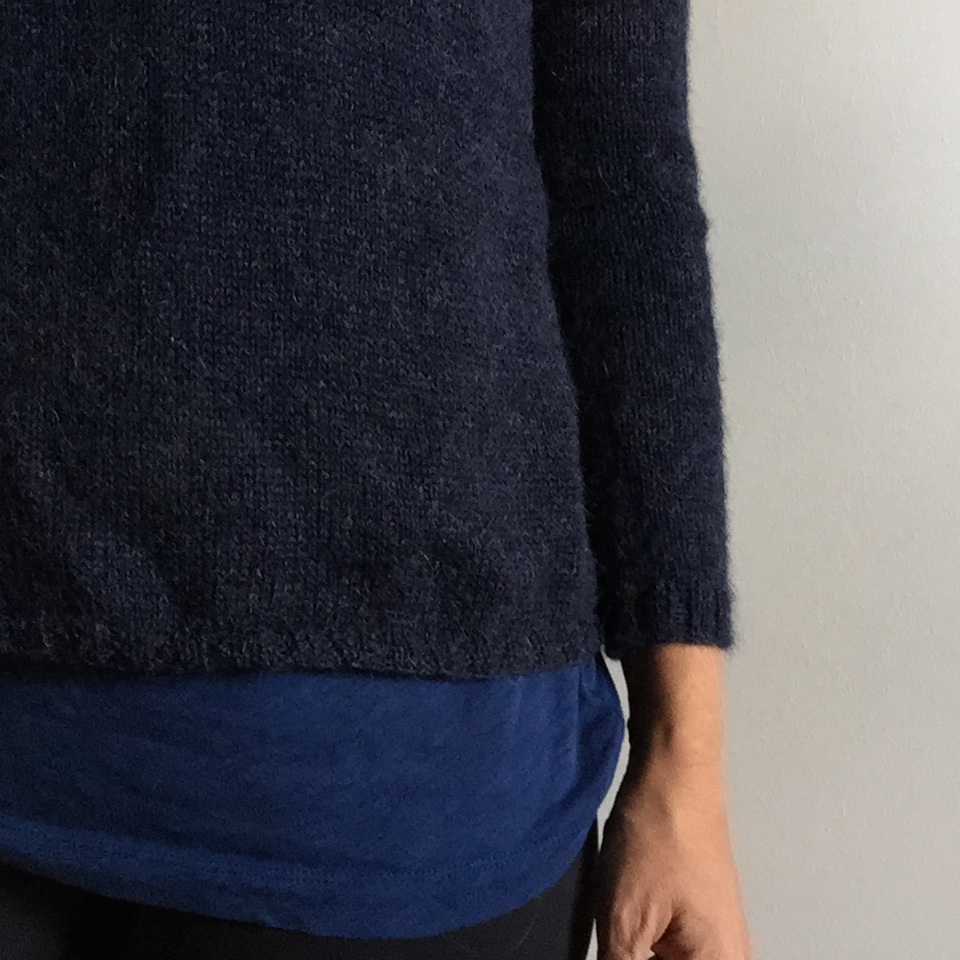 A non flipping hem. That I am happy with. Near enough is good enough and completionism rather than perfection. I adore this jumper.
