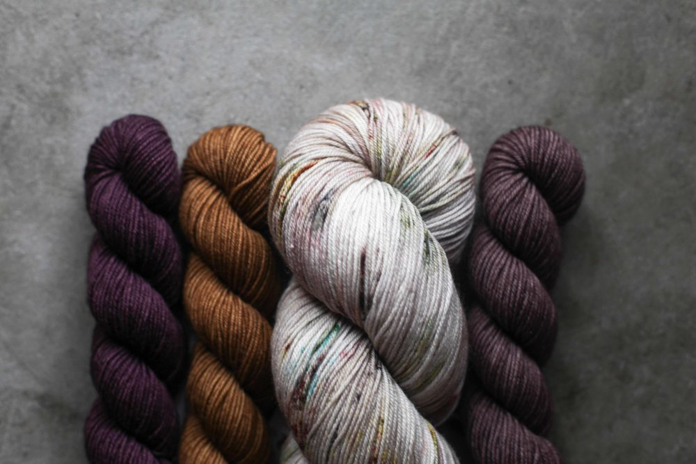 The most beautiful sock yarn from Kelly @missclickclack.