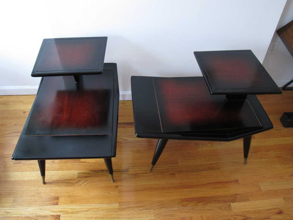 GORDON'S END TABLES STYLED AFTER GIO PONTI
