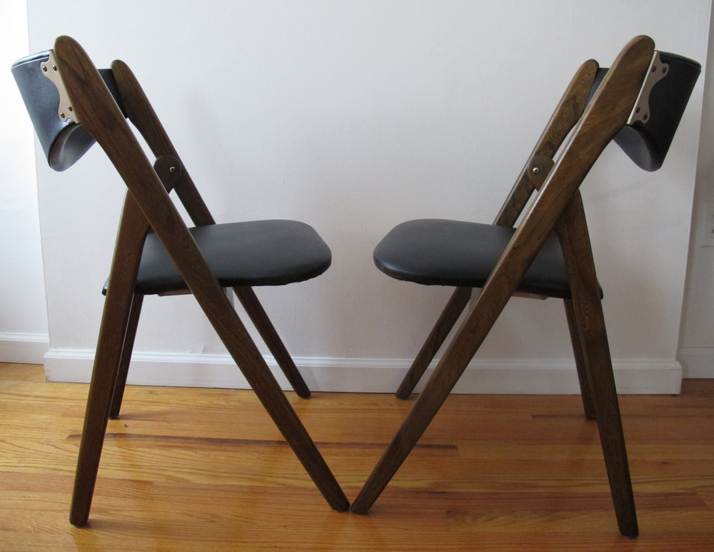 DANISH STYLE FOLDING CHAIRS AFTER KAI KRISTIANSEN