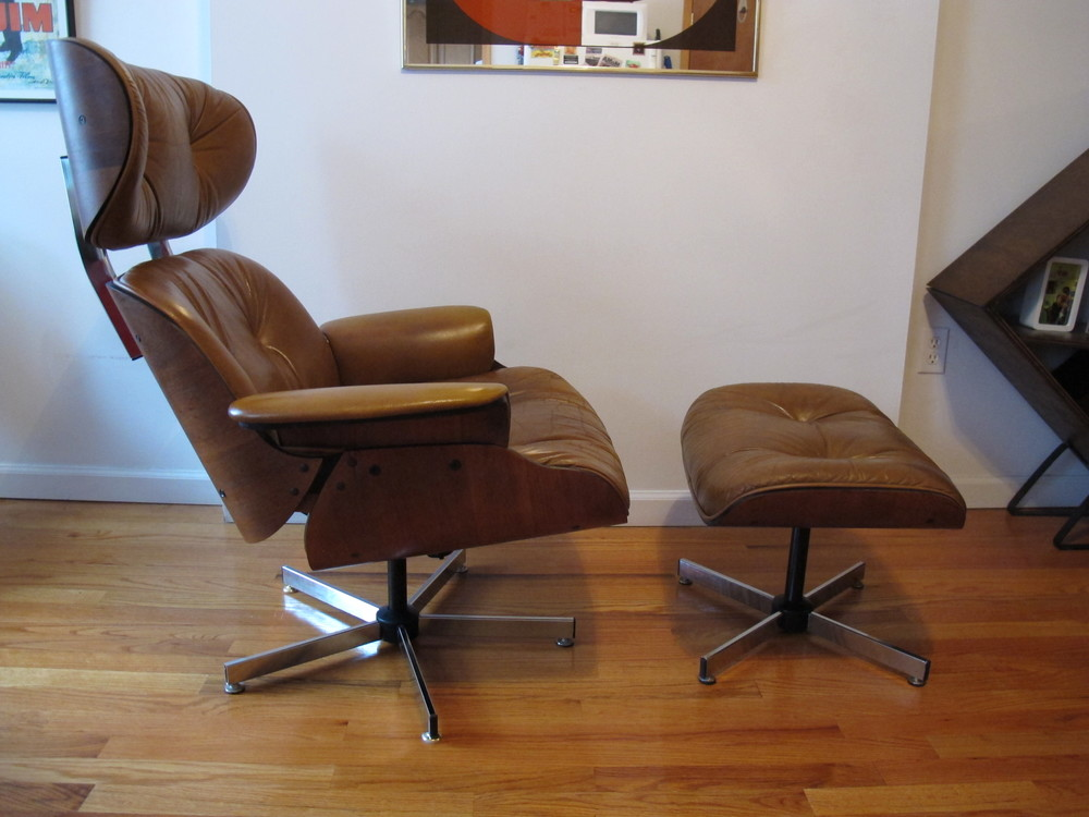 EAMES LOUNGE CHAIR & OTTOMAN BY SELIG