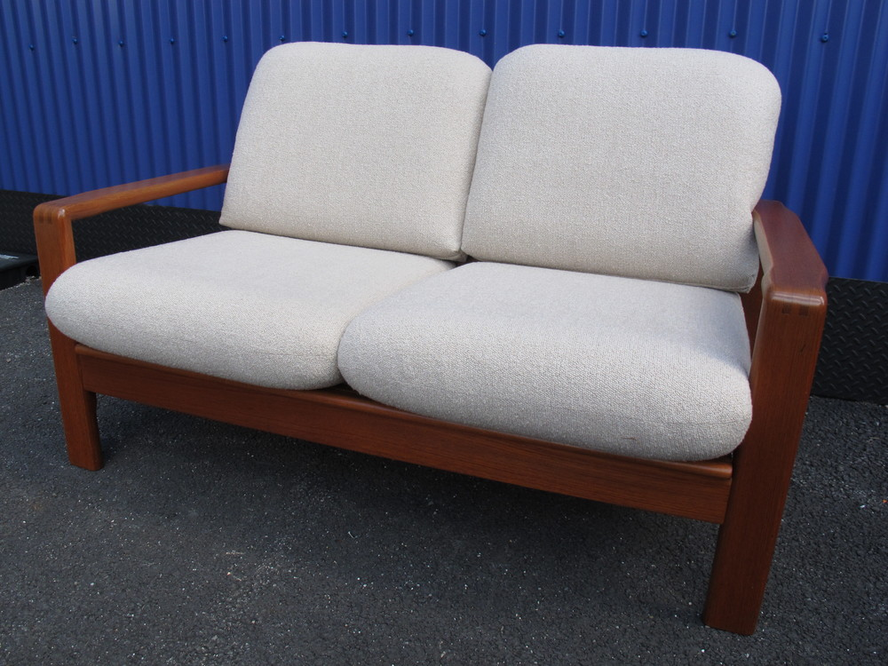 DANISH TEAK LOVESEAT