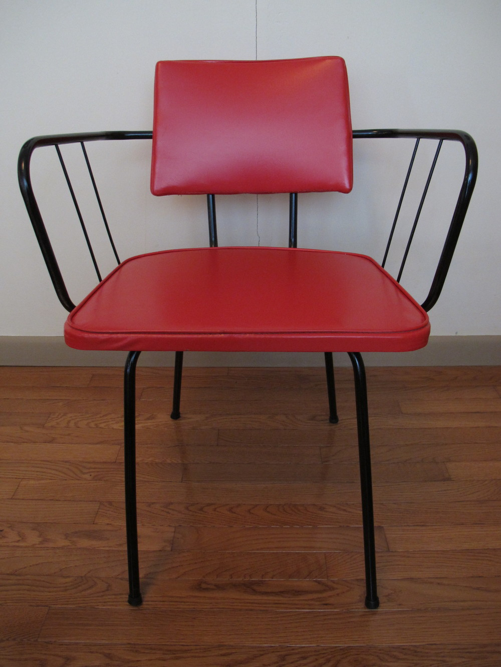 RED VINYL VIKO CHAIR