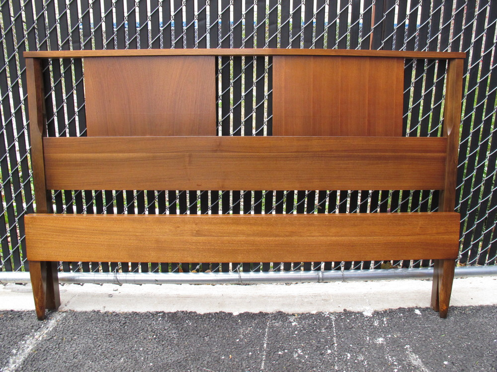 MID CENTURY WALNUT BED FRAME