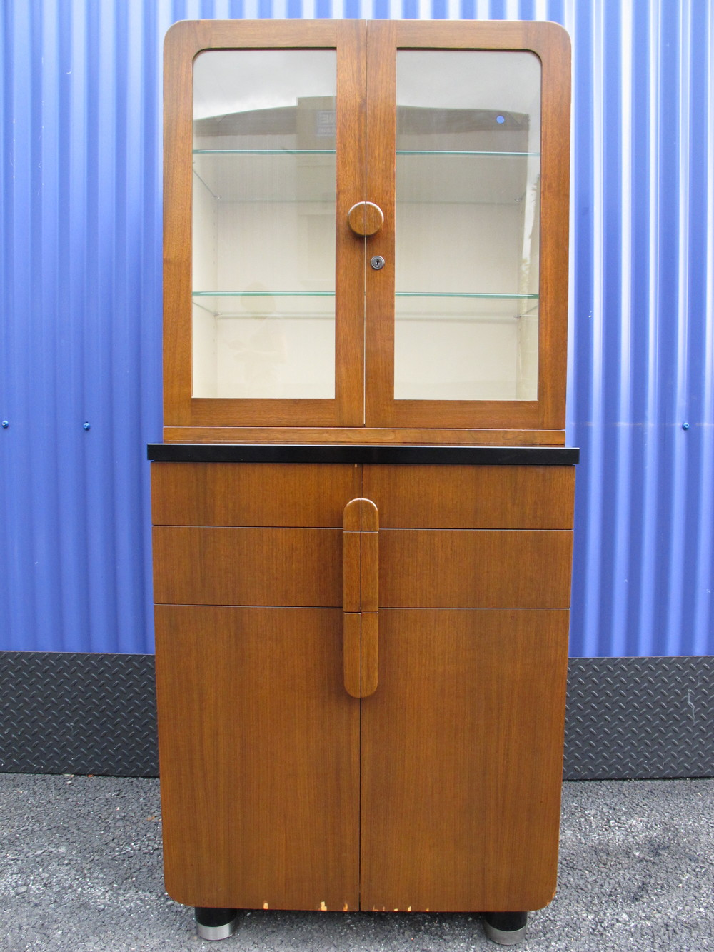 DECO HAMILTON GLASS-DOORED CABINET