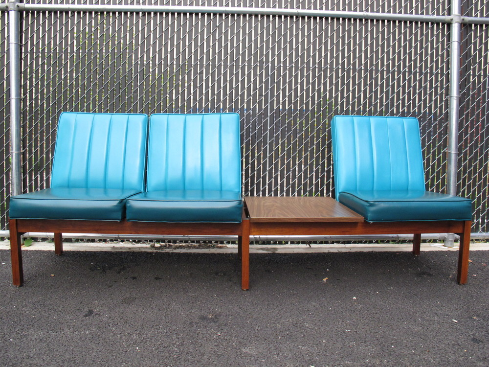 MID CENTURY THREE-SEAT LOUNGER