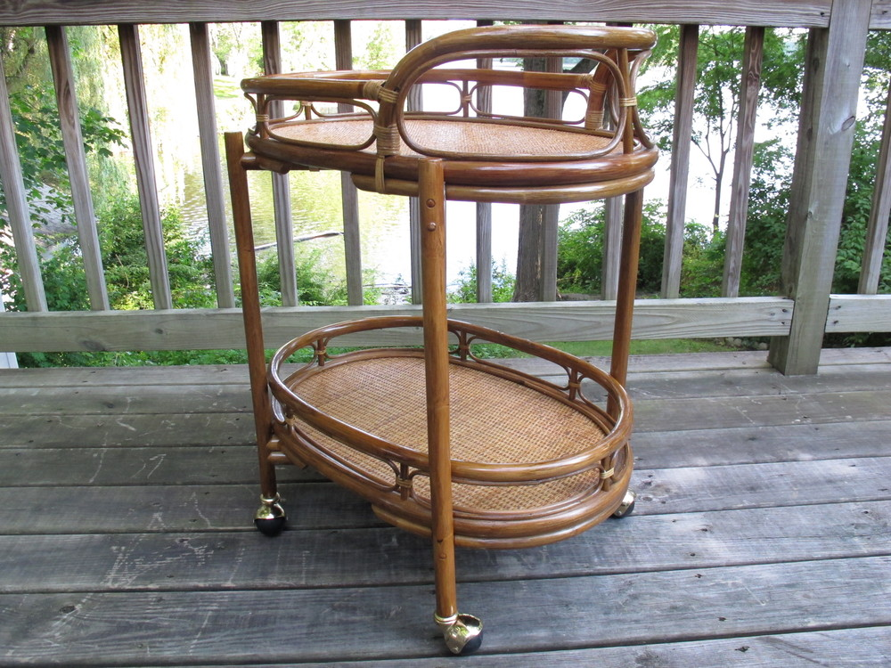 BAMBOO SERVING CART