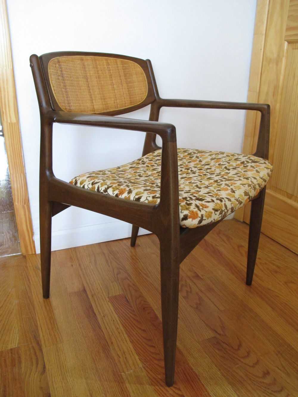 DANISH CANE BACK ARMCHAIR