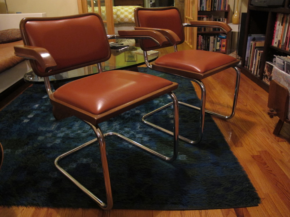 PAIR OF MARCEL BREUER CESCA CHAIRS