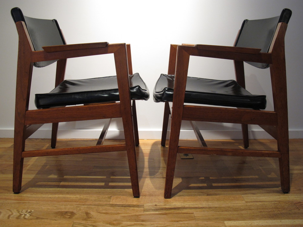 DANISH WALNUT ARMCHAIRS STYLED AFTER ERIK KIRKEGAARD