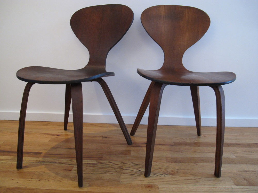 PLYCRAFT BENTWOOD CHAIRS BY NORMAN CHERNER