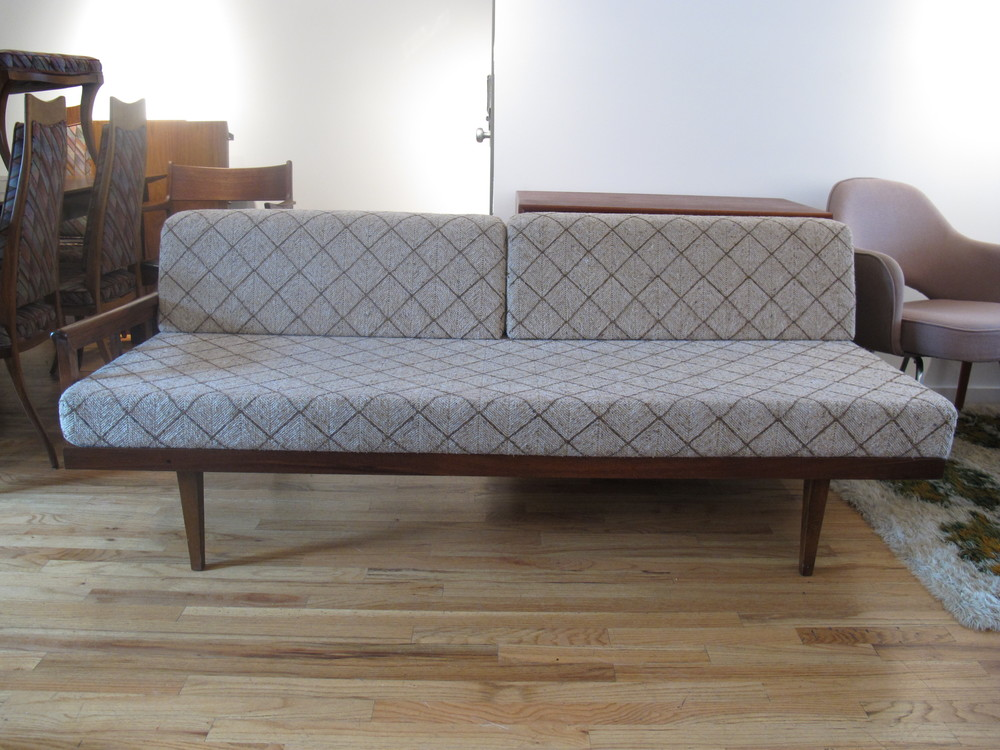 DANISH MODERN TEAK & OAK DAYBED SOFA