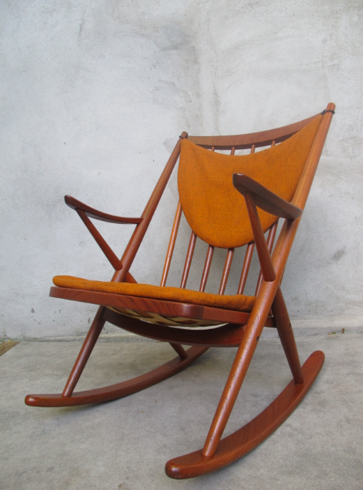 BRAMIN DANISH MODERN ROCKING CHAIR BY FRANK REENSKAU