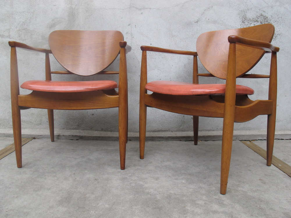 PAIR OF DANISH STYLE ARMCHAIRS BY JOHN STUART