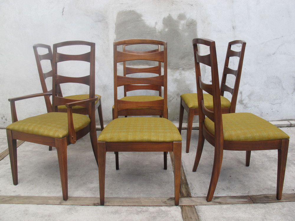 MID CENTURY DINING CHAIRS BY LENOIR
