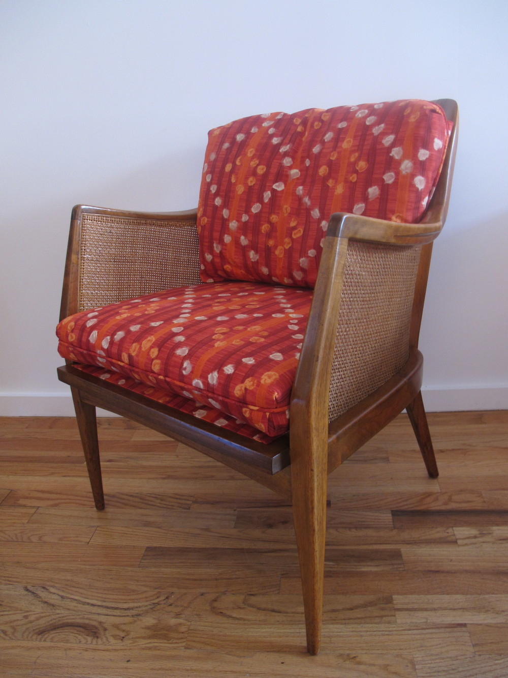 MID CENTURY BEECH & KANE LOUNGE CHAIR