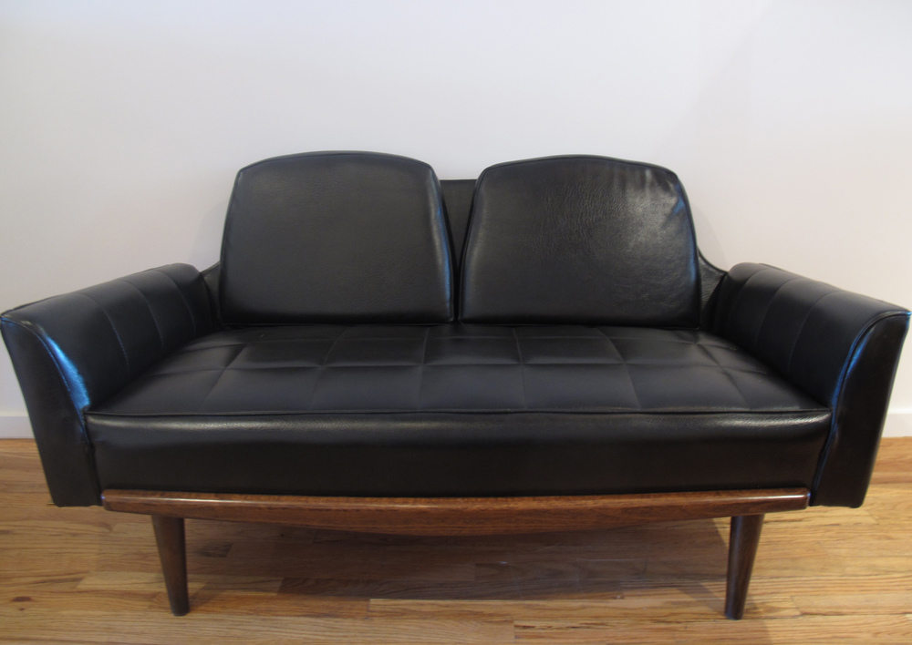 MID CENTURY LOVESEAT AFTER PEARSALL