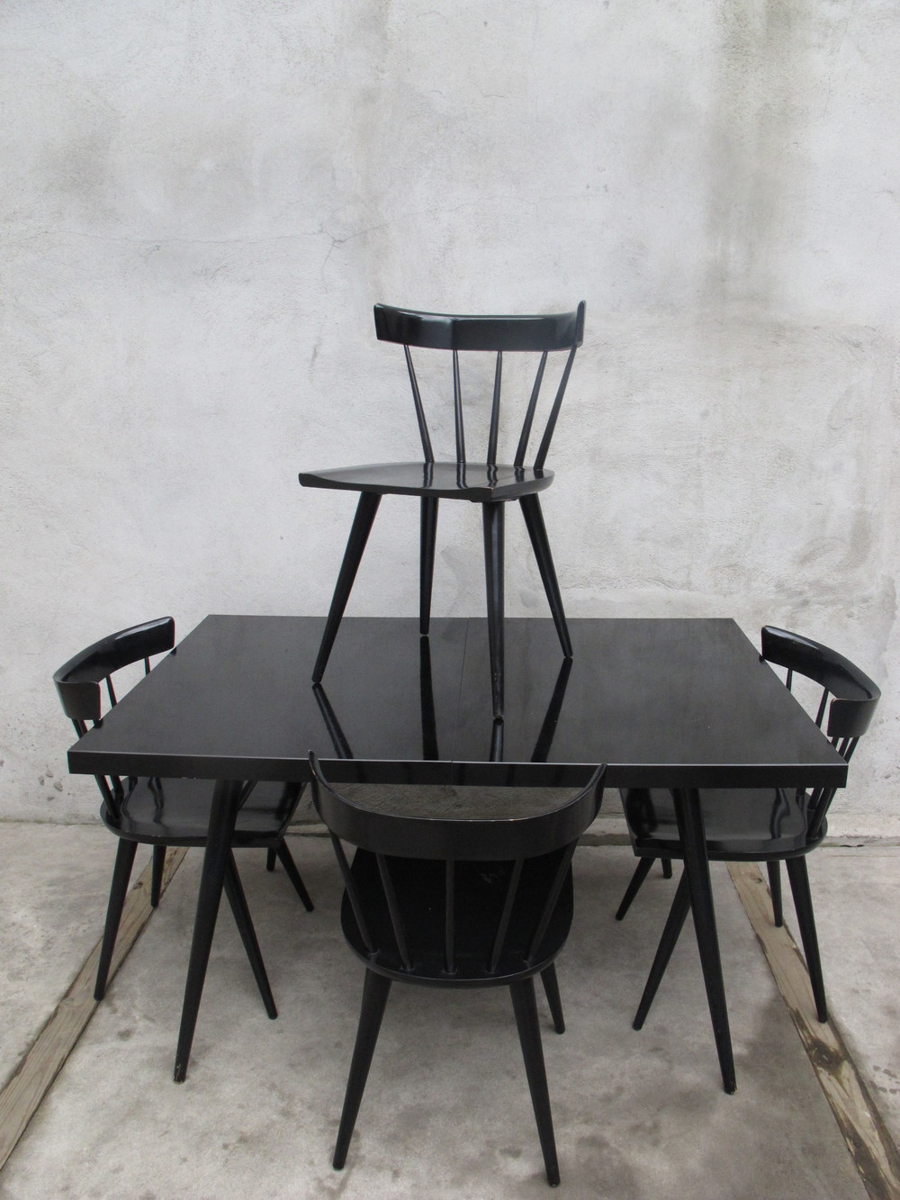 PAUL MCCOBB EBONY DINING SET