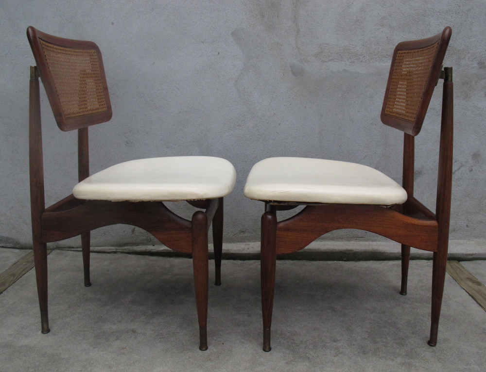 DANISH MODERN CANE DINING CHAIRS AFTER FINN JUHL