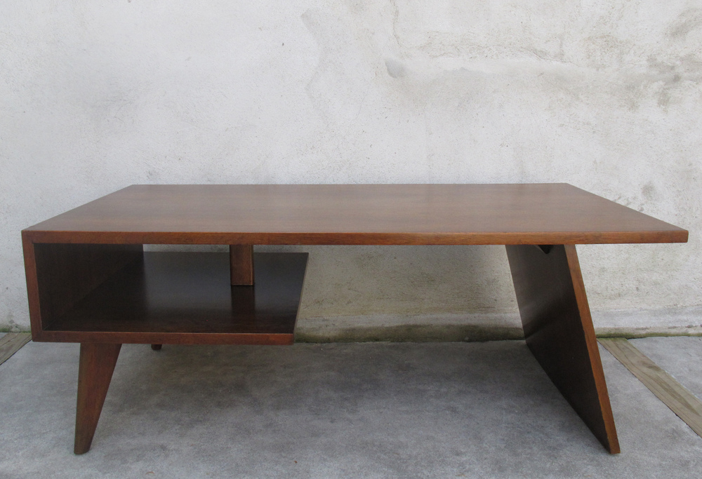 MID CENTURY TWO-TIER COFFEE TABLE