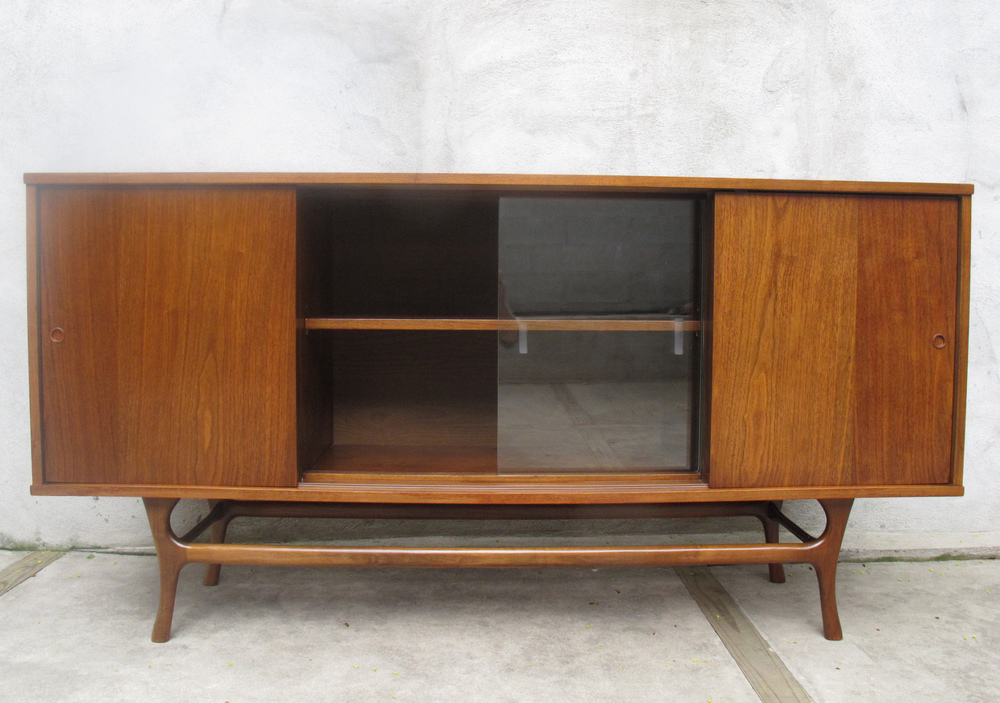 MID CENTURY CONSOLE CABINET