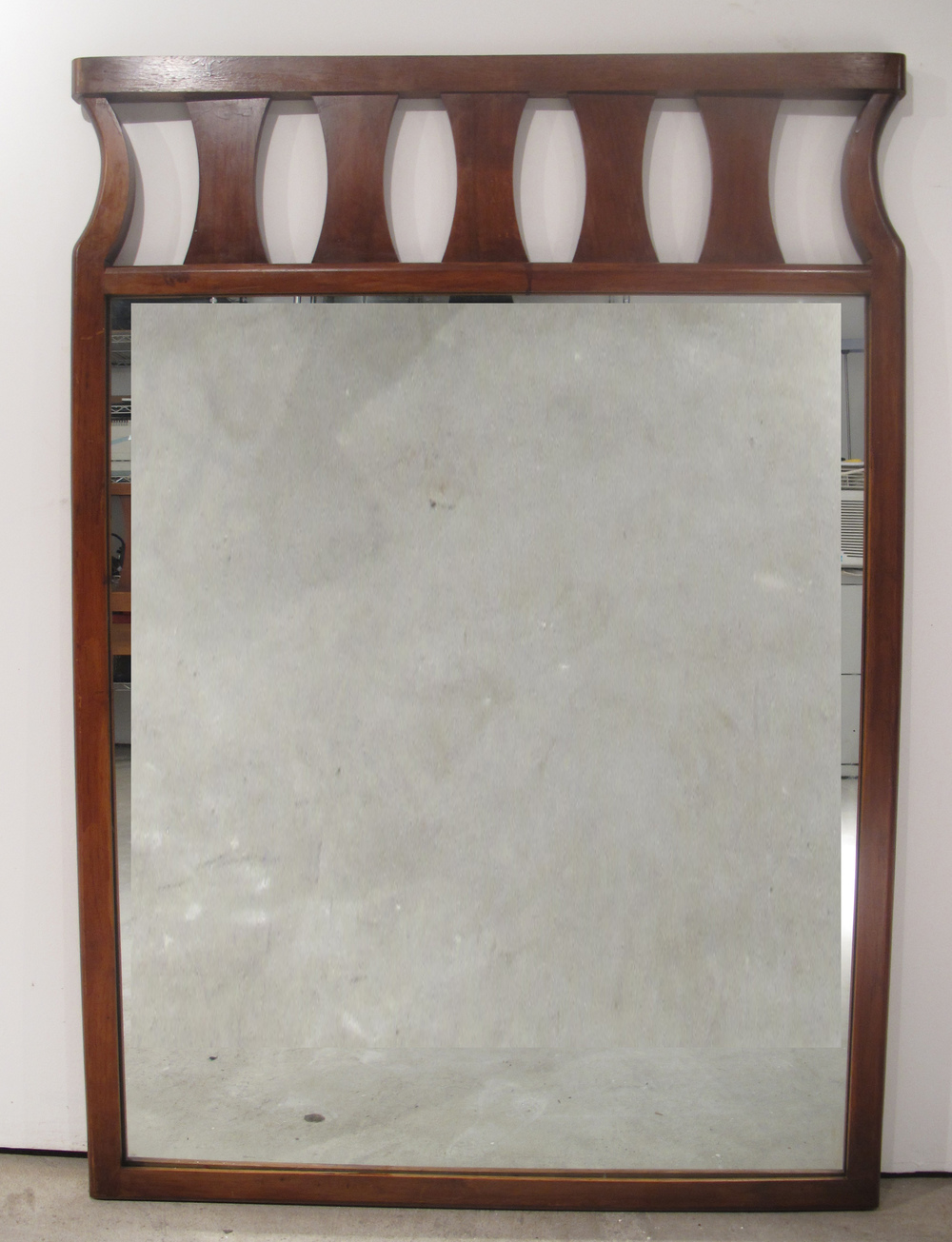 DANISH MODERN STYLE WALNUT MIRROR