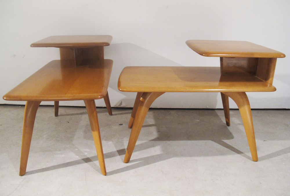 PAIR OF HEYWOOD WAKEFIELD END TABLES