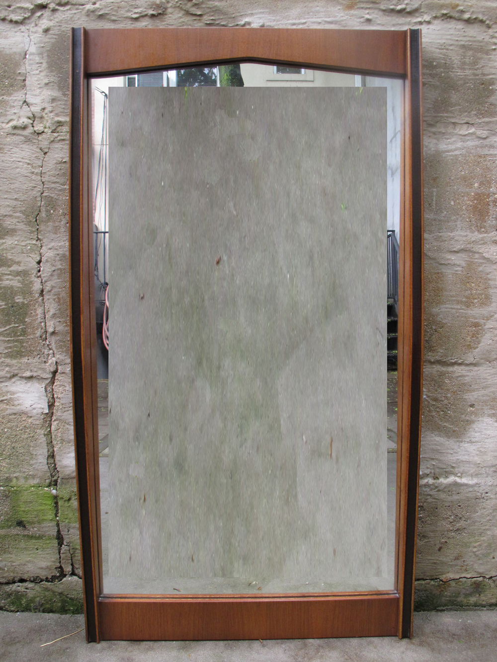 MID CENTURY WALNUT MIRROR BY HOOKER