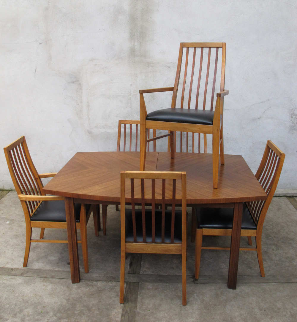 MID CENTURY DINING SET BY LANE