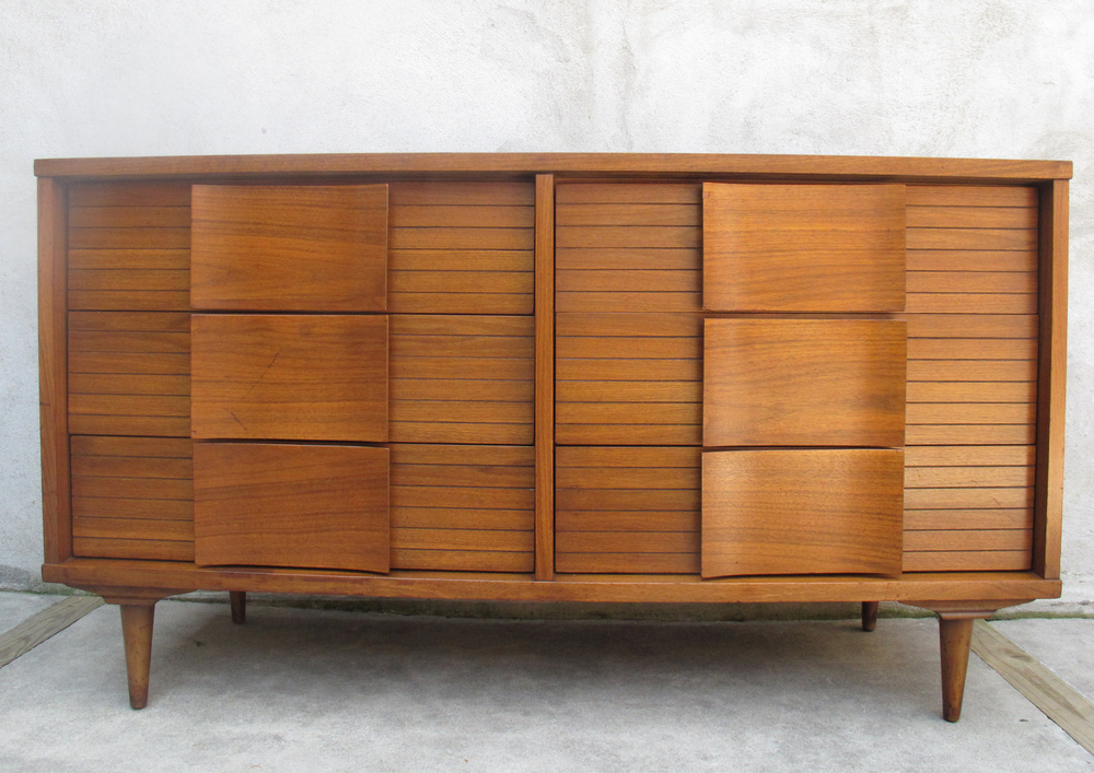 MID CENTURY LONG DRESSER BY JOHNSON CARPER