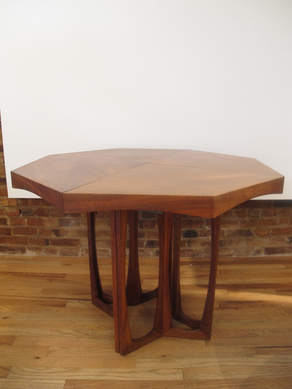 MID CENTURY HEXAGON SHAPED DINING TABLE