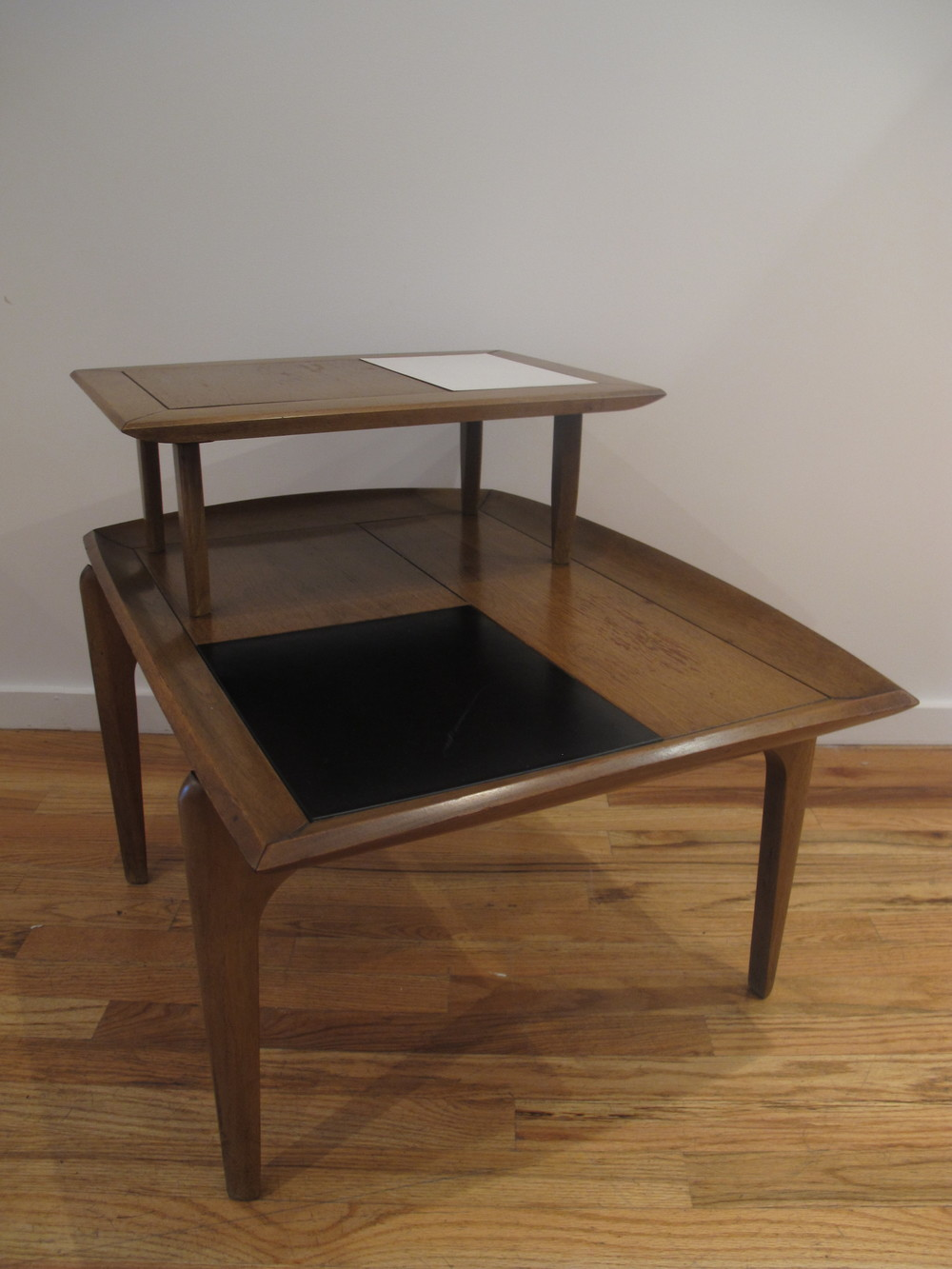 MID CENTURY TWO-TIER TILED END TABLE