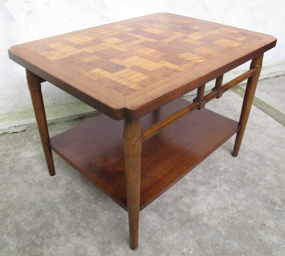 MID CENTURY TWO TIER END TABLE