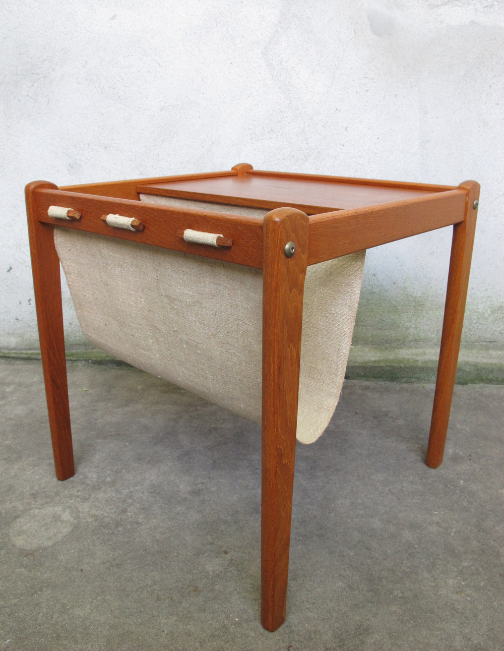 DANISH MODERN TEAK MAGAZINE END TABLE BY BRDR FURBO