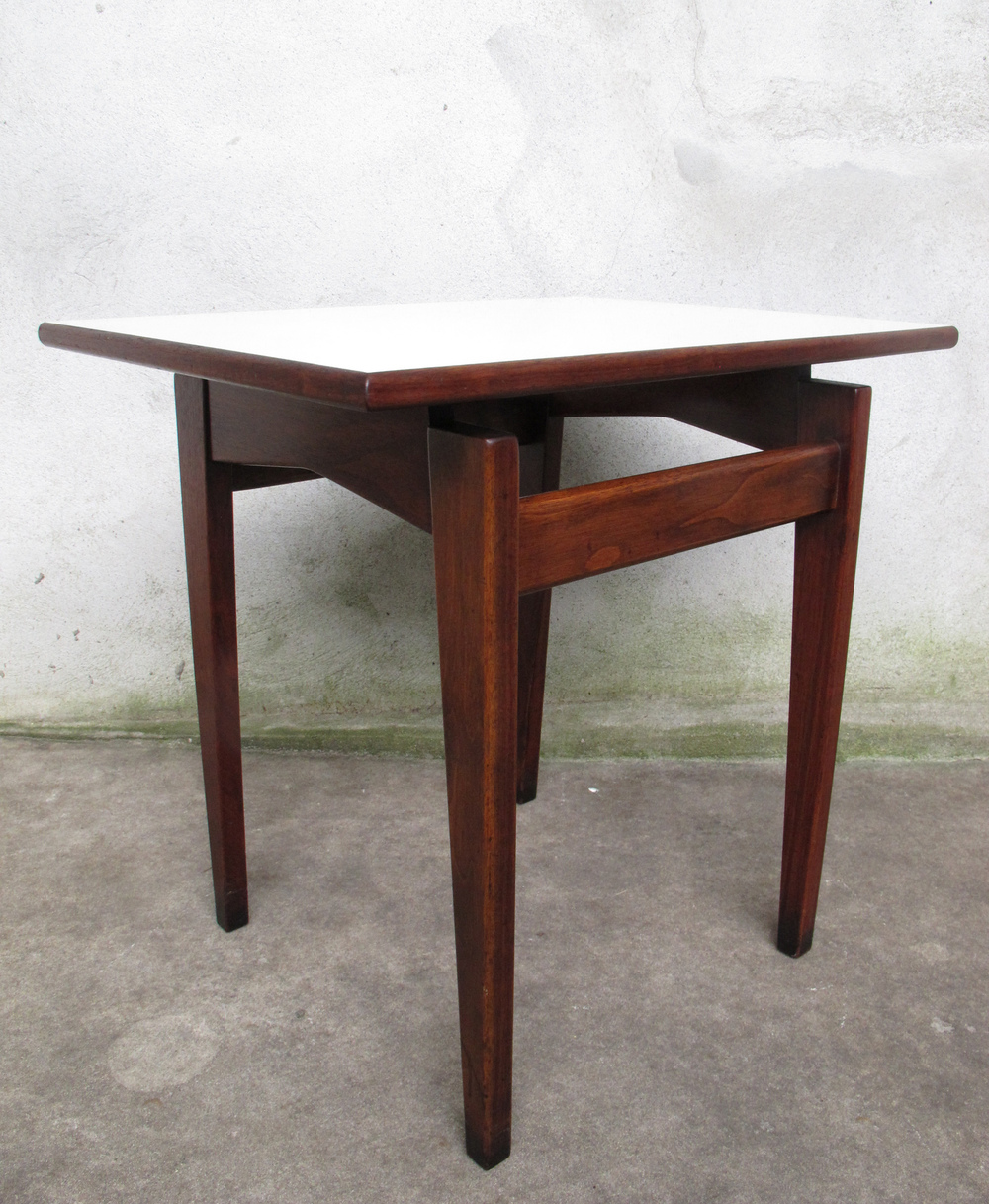 JENS RISOM FLOATING WALNUT SIDE TABLE
