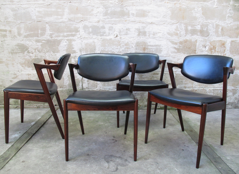 SET OF DANISH KAI KRISTIANSEN ROSEWOOD Z DINING CHAIRS